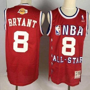 Los Angeles Lakers 8 Kobe Bryant Red Jersey